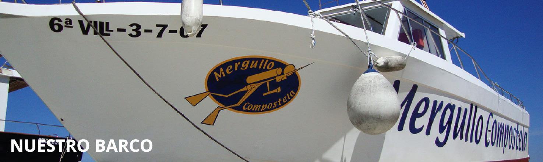 barco de buceo mergullo compostela
